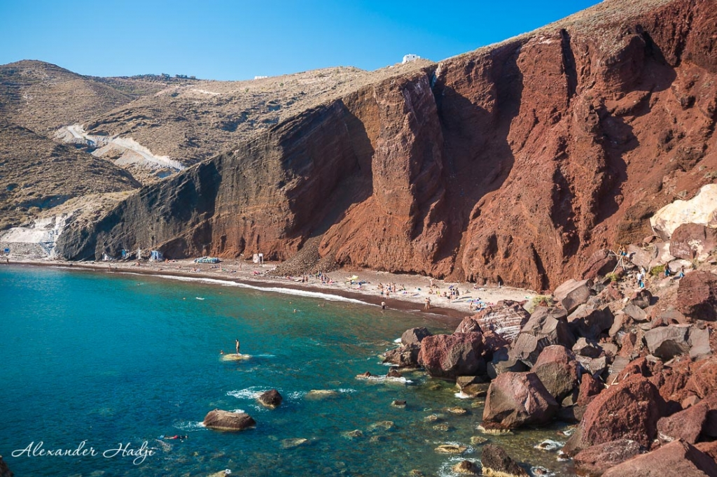 Santorini things to do The red beach