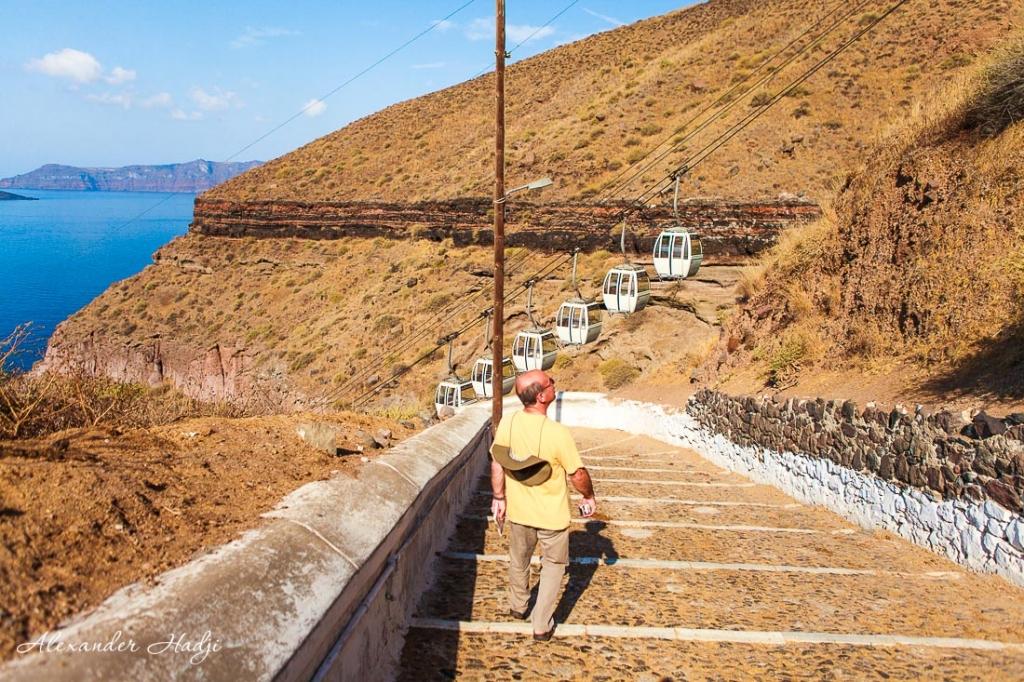 Cable car in Santorini santorini cruise port to Fira