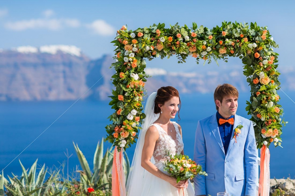 Santorini wedding photographer venue
