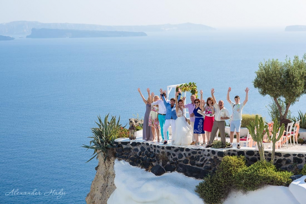 Santorini wedding ceremony Andronis Luxury Suites
