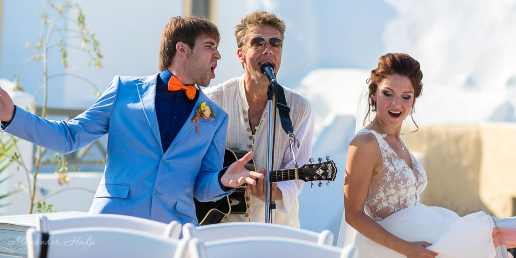 Santorini wedding ceremony music