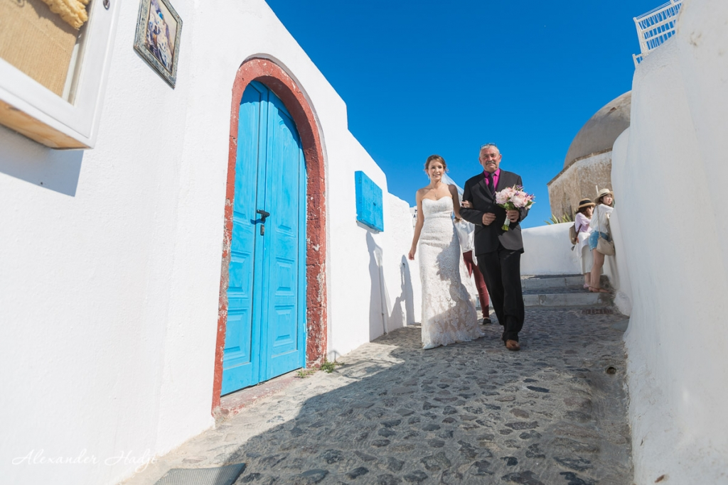 Santorini wedding photoshoot