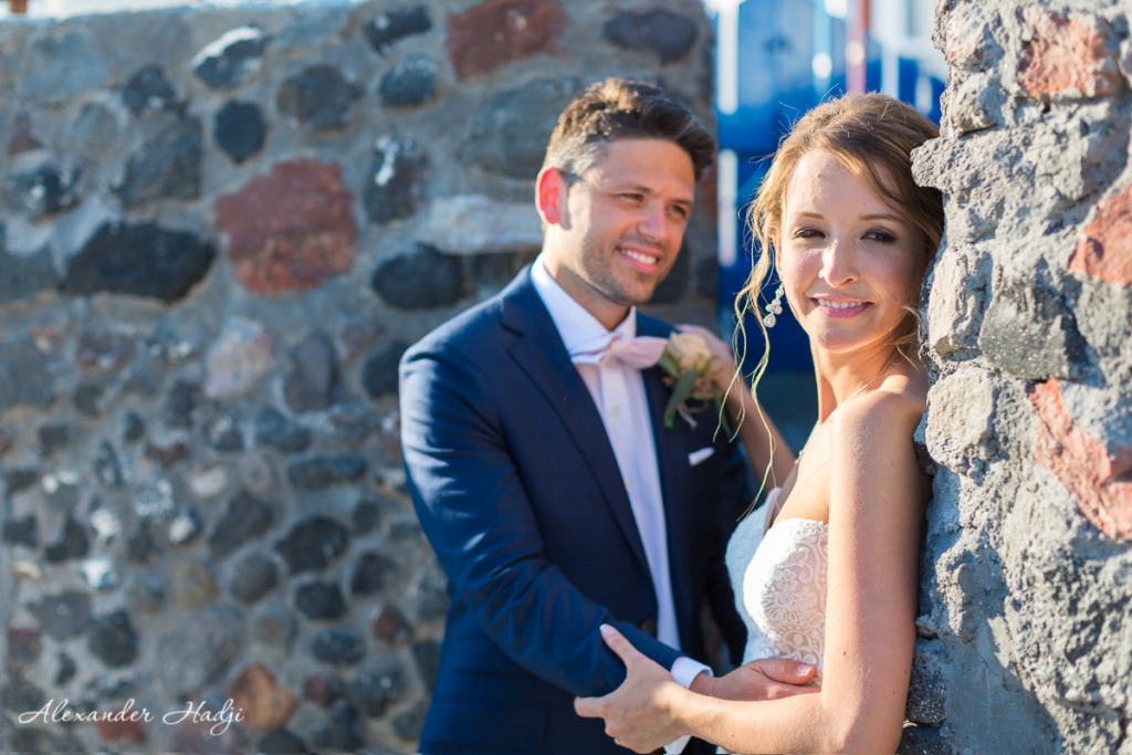 Santorini wedding photoshoot next day photography