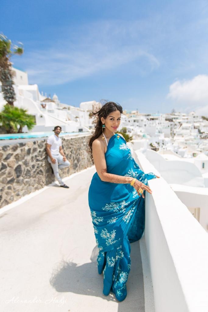 Santorini proposal photo shoot