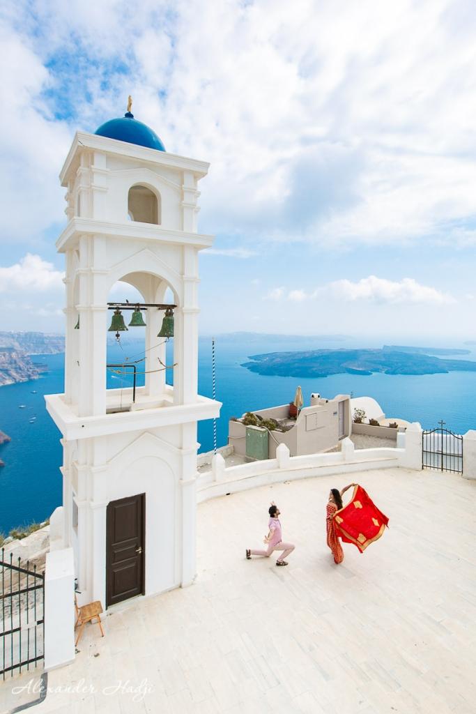 Santorini proposal photographer