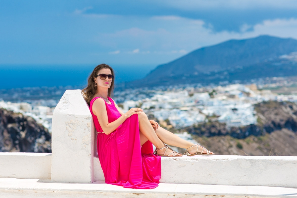 Santorini portrait photoshoot