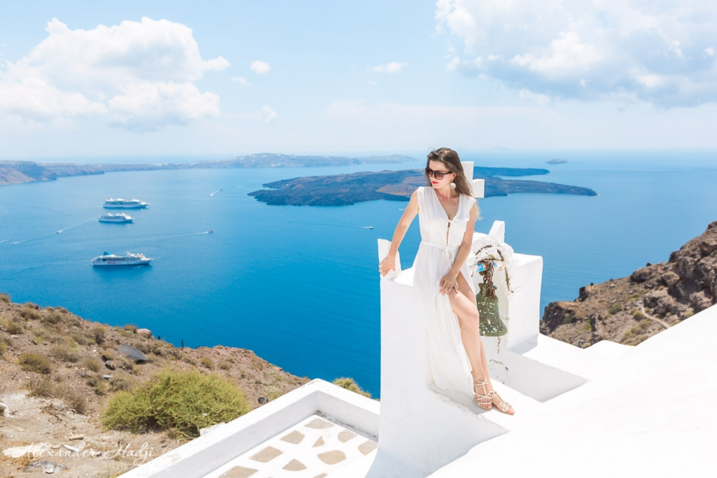 Santorini portrait photo shoot
