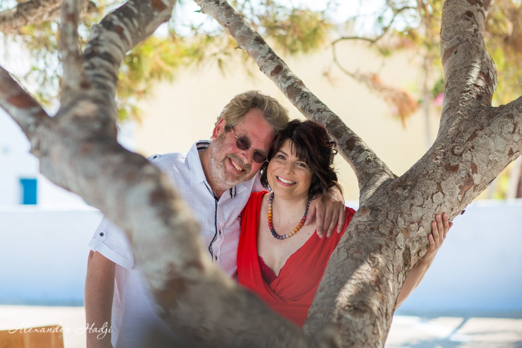Santorini wedding anniversary photographer