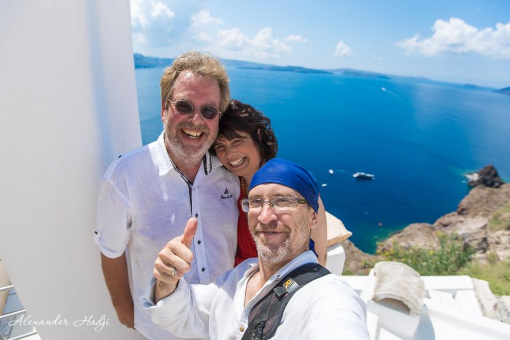Santorini wedding anniversary photographer Alexander Hadji